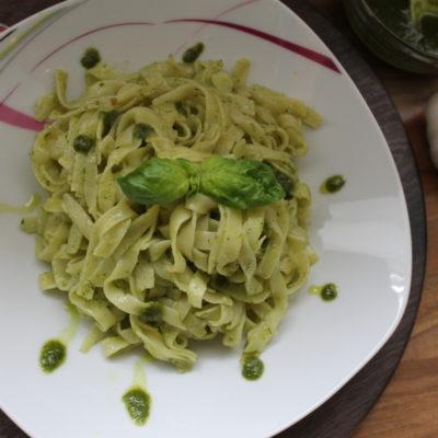 Макароны с соусом Pesto
