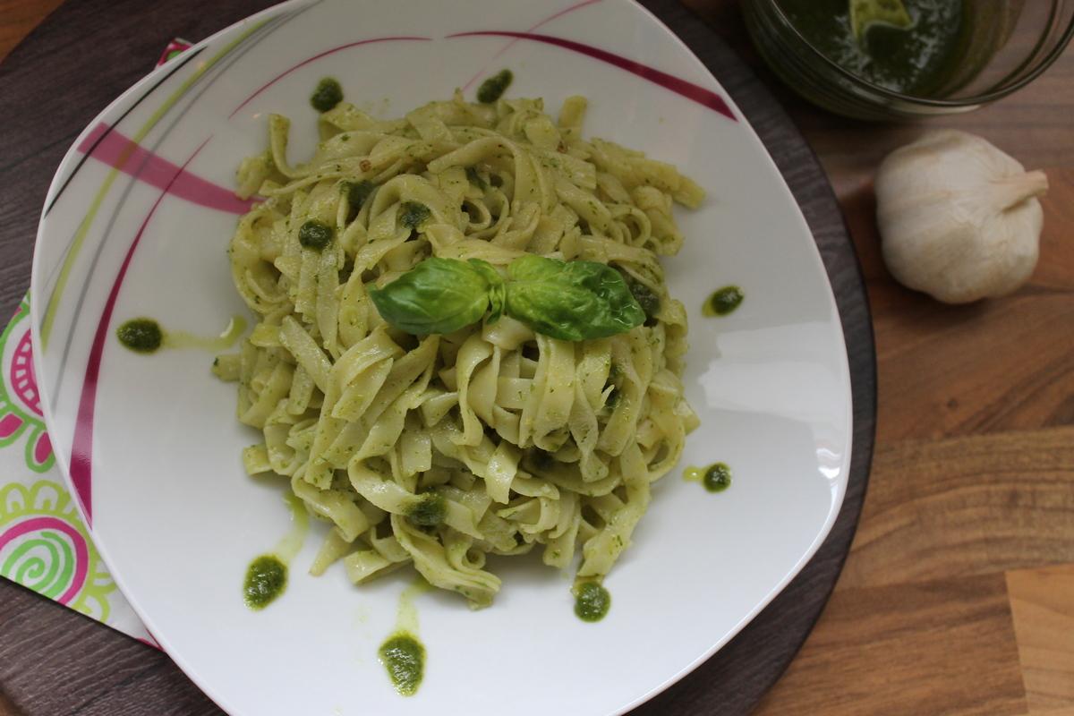 Макароны с итальянским соусом Pesto